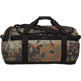 The North Face Base Camp Duffel L, new taupe green macrofleck camo print/tnf black